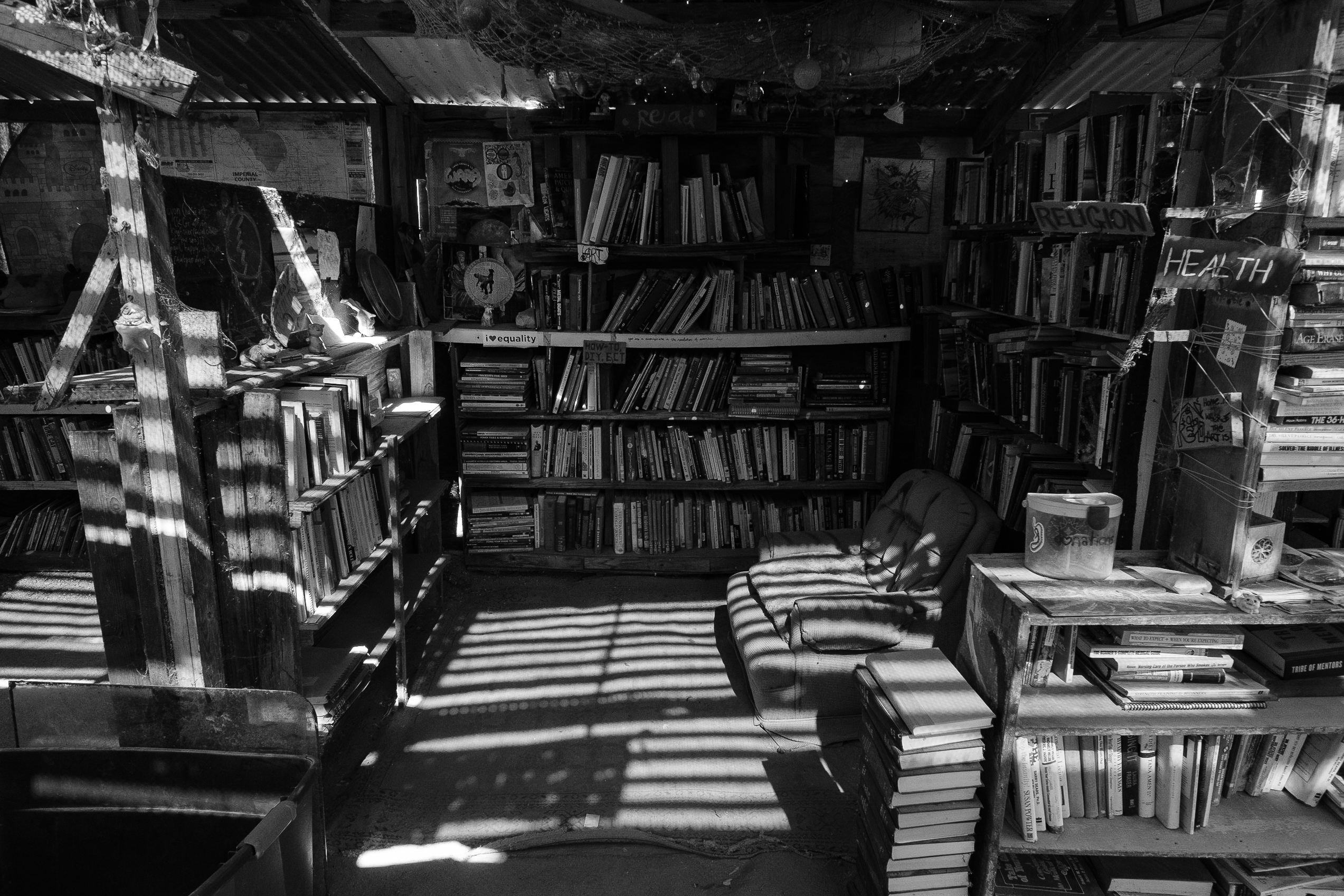Library, Slab City, Niland, CA